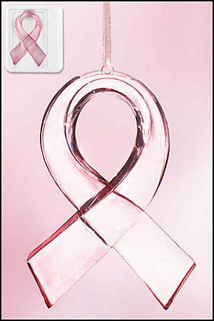 Pink Ribbon Ornament