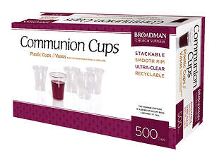 Communion Cups-Plastic (Box of 500)
