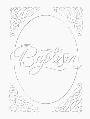 Baptism Certificate Silver Foil Embossed Package of 6