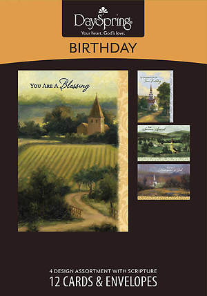 Faithful Blessings - Birthday Boxed Cards - Box of 12