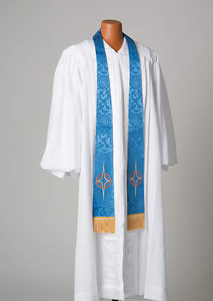 Blue Stole With Star Cross symbol