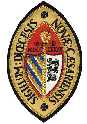 Hand Embroidered Diocesan Seal - Diocese of New Jersey