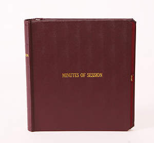 Minutes of Session Small Church Edition Binder . Presbyterian Church(USA)