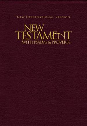 NIV Pocket New Testament with Psalms and Proverbs - Burgundy