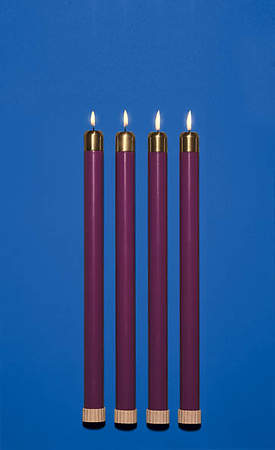 Tube Candle Advent Purple 7/8