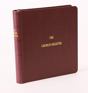 Westminster Church Register Complete Book - Small Church