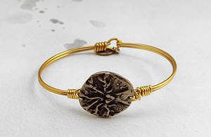 Wire Wrapped Brass and Pewter Bracelet - Tree of Life
