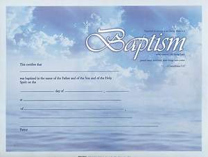 Certificates Baptism Package of 6