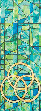 Symbols of Faith Series Stained Glass Trinity Pulpit Scarf