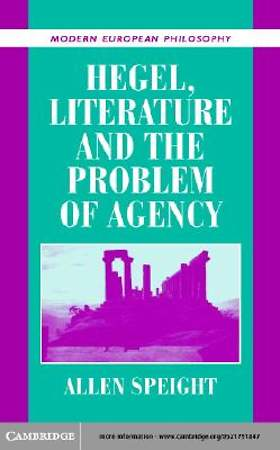 Hegel, Literature, and the Problem of Agency [Adobe Ebook]
