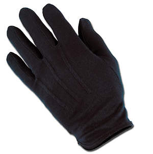 Gloves Plastic Dot Handbell Medium Black