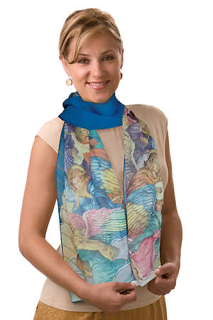 Angels Georgette Silk - Oblong 12