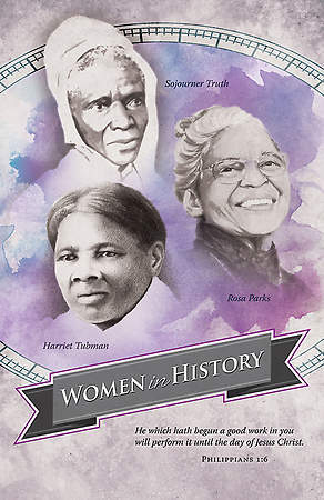 Black History Bulletin - Women in History - Philippians 1:6 (Pkg 100)