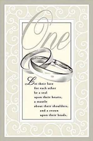 One Wedding Bulletin, Regular (Package of 50)