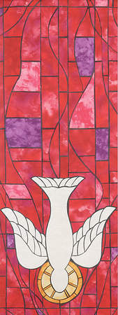 Symbols of Faith Series Stained Glass Descending Dove Pulpit Scarf