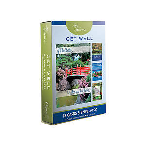 Get Well Boxed Cards-Landscapes Designs Pack of 12