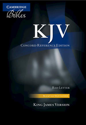 KJV Concord Reference Black Calf Split Kj563