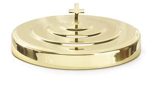 Solid Brass Communion Tray Cover with Latin Cross