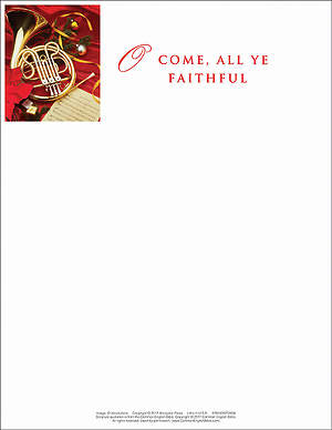 O Come/Christmas Music Letterhead 2013 (Package of 50)