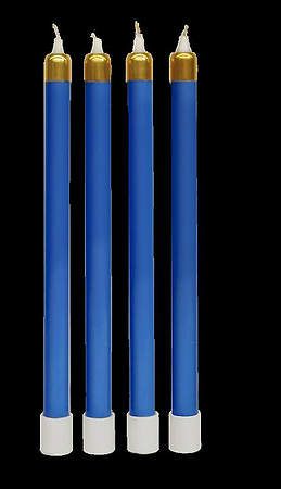 Advent Tube Candles Set of 4 Blue 13 3/8