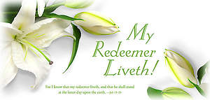 Easter Offering Envelope - My Redeemer Liveth - Job 19:25 KJV (Pkg 100)
