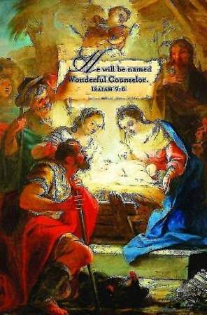 Wonderful Counselor/Christmas Nativity Bulletin 2013, Regular (Package of 50)