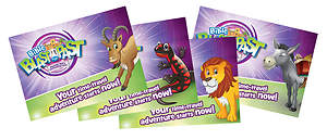 Standard VBS 2015 Blast to the Past Invitation Postcards (52)