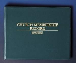 Church Membership Record Binder