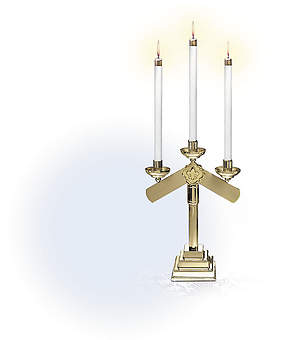 Inverted Arm Candelabra Pair