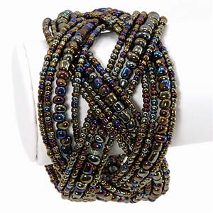 Java Braided Cuff - Adjustable Pewter