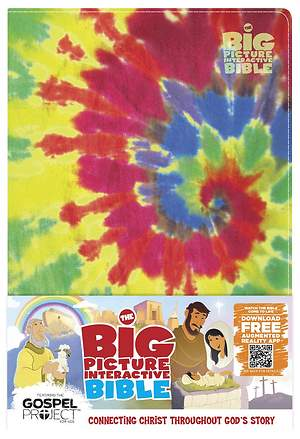 The Big Picture Interactive Bible for Kids, Multicolor Tie-Dye Leathertouch