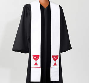 Disciples of Christ White Stole