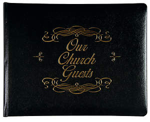 Our Church Guest Book Large Black Bonded Leather