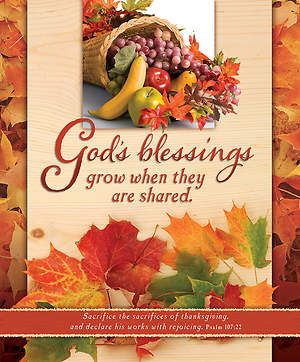 Thanksgiving Bulletin God`s Blessings Large (Package of 100)