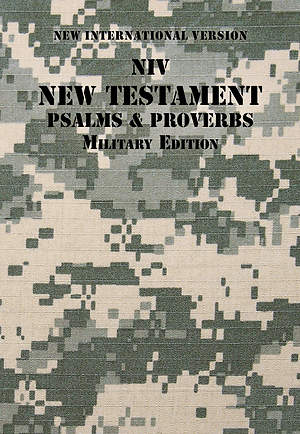 NIV New Testament with Psalms and Proverbs, Military Edition