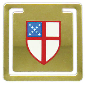 Episcopal Shield Brass Bookmark (#671)