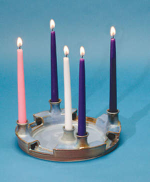 "Advent Candles Refill 10"" x 7/8"" White, Rose, 3 Purple (Package of 5)"