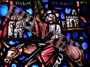 Download Still Stain Glass Palm Sunday