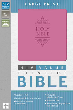 NIV Premium Value Thinline Bible Large Print Imi Lthr Orchid