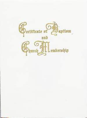 Traditional Steel-Engraved Baptism and Church Membership Certificate (Package of 3)