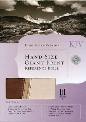 KJV Hand Size Giant Print Reference Bible