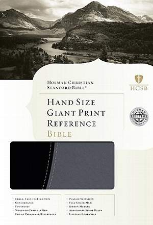 Hand Size Giant Print Reference Bible - HCSB