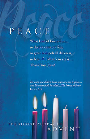 "Advent Peace Bulletin Isaiah 9:6 Regular 8.5"" x 11"" (Package of 100) - WEEK 2"