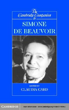 The Cambridge Companion to Simone de Beauvoir [Adobe Ebook]