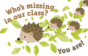 Who's Missing In Our Class? - Postcard - Pkg 25
