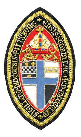 Hand Embroidered Diocesan Seal - Diocese of Pittsburgh