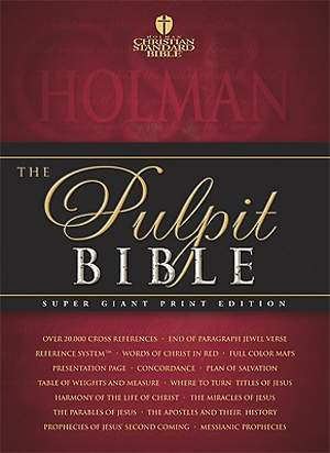 Pulpit Bible-HCSB-Super Giant Print
