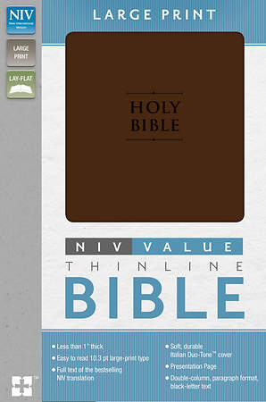 NIV Premium Value Thinline Bible, Large Print Imi Lthr Chocolate