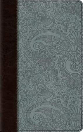 ESV Thinline Bible (Trutone, Chocolate/Blue, Garden Design)