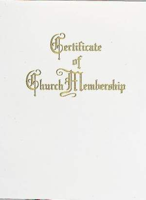 Traditional Steel-Engraved Church Membership Certificate (Package of 3)